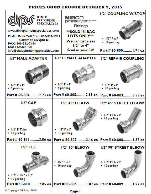 Copper Press Fittings